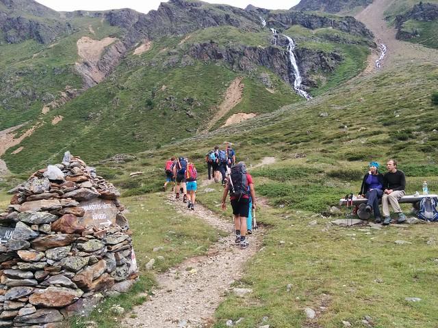 Aufstieg Oberetteshütte, es wird steiler