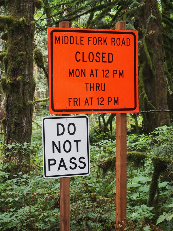 Middle Fork Rd Closure: Pavement in progress