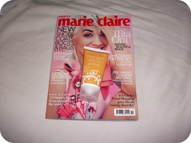 Marie Claire October Magazine Freebies Balance Me Rita Ora