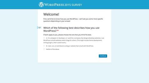 WordPress 2015 Survey
