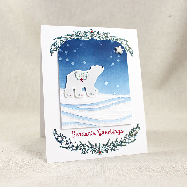 Polar Bear Season's Greetings Card