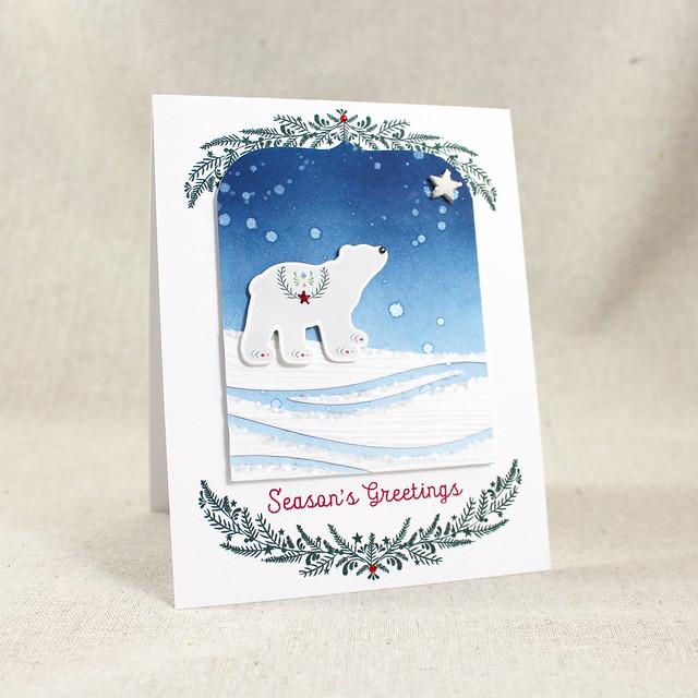 Polar Bear Season's Greetings Card