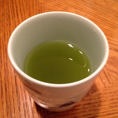 The real deal... Authentic Japanese green tea from the fields of Yumiko's hometown in Shizuoka, Japan. :-)