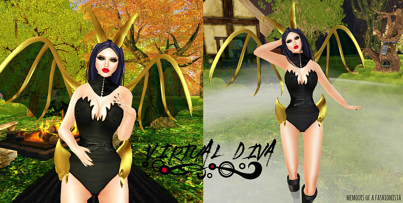 FASHION FEATURE: VIRTUAL DIVA/MALEFICENT COUTURE GOWN