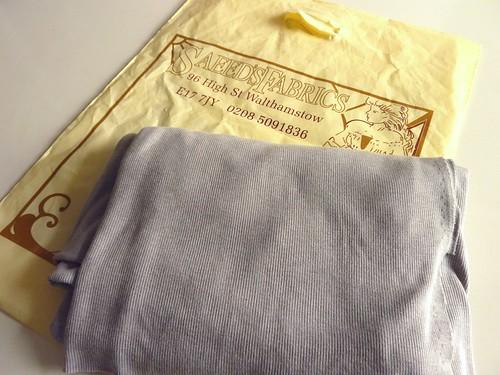 Grey Rib Knit Fabric