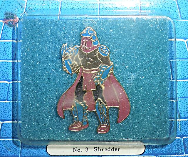 """ACE NOVELTY :: """"TEENAGE MUTANT NINJA TURTLES"""" COLLECTOR PINS - No.3 'Shredder' ii (( 1989 ))"""