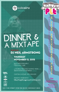 11/12 - Thurs - Dinner & A Mixtape comes to the Nati @ QuanHapa