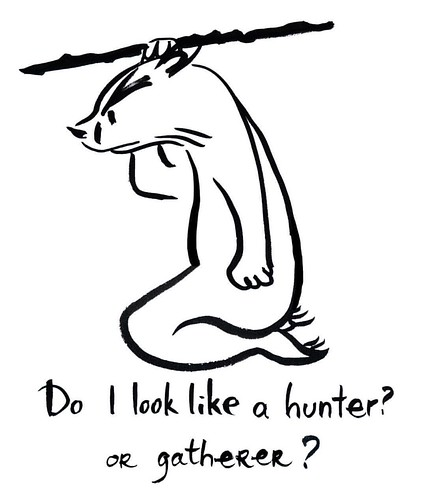 Hunter - gatherer #badger #badgerlog