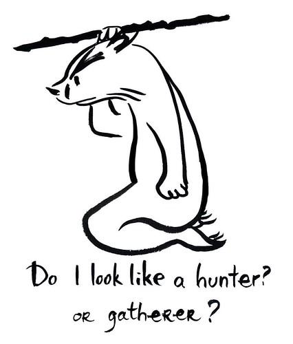 Hunter - gatherer #badger #badgerlog