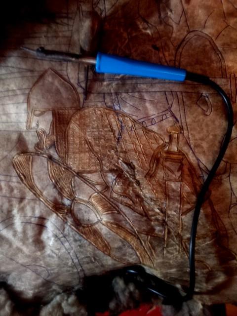 Cautin, herramienta para lograr el quemado lineal