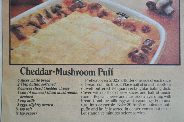Chedder-Mushroom Puff