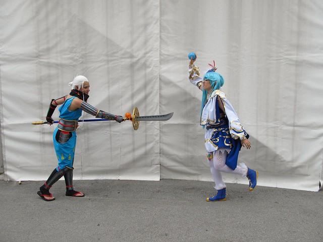 cosplay Impa y Lana de Hyrule Warriors