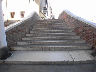 Venice has lots of steps, like these on every bridge!