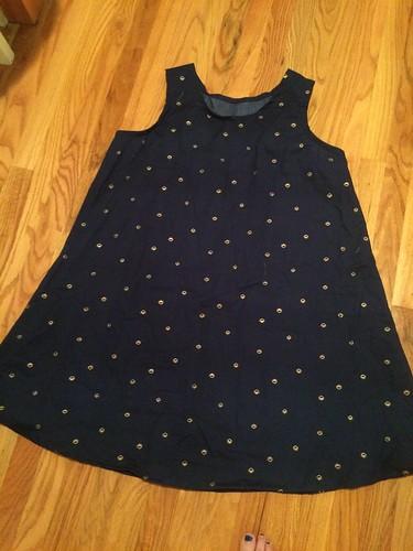 navy/gold dress