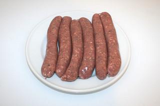 02 - Zutat Bratwurst / Ingredient bratwurst
