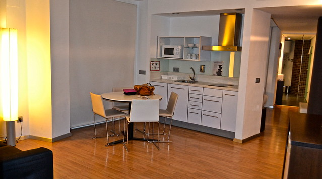 dining room and kitchen - Valencia Flats