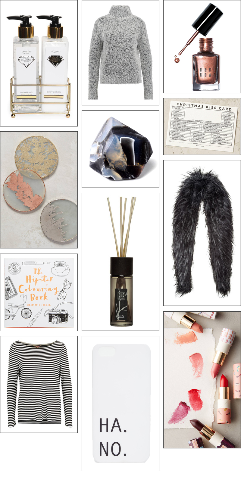 Christmas Gift Guide with under 25 items from fashion to jewelry and home decor
