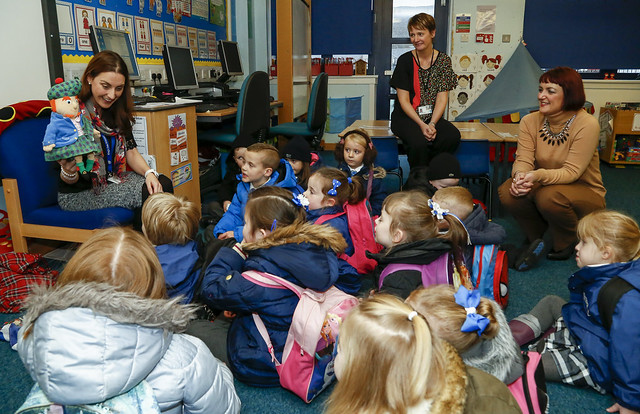 Angela Constance visits Kings Oak Primary School, Greenock