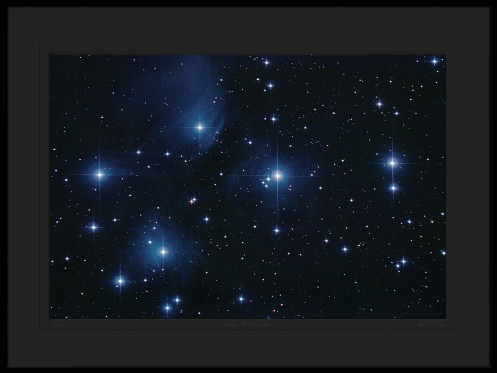 Pleiades - The Seven Sisters ( Messier 45 ) by Mike O'Day ( 500px.com/mikeoday )