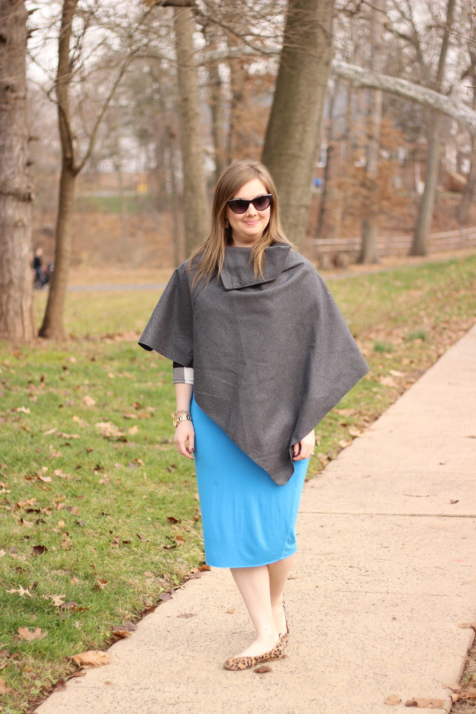 Dresslink poncho and pencil skirt (8)