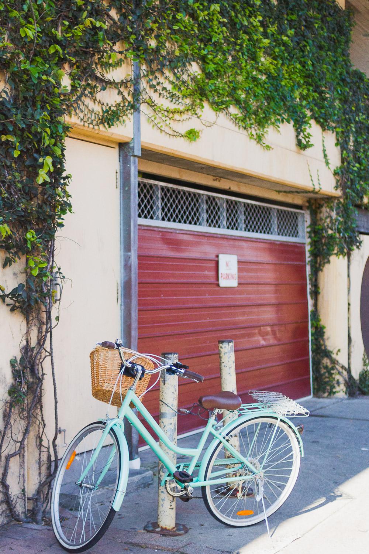 mint green bicycle byron bay