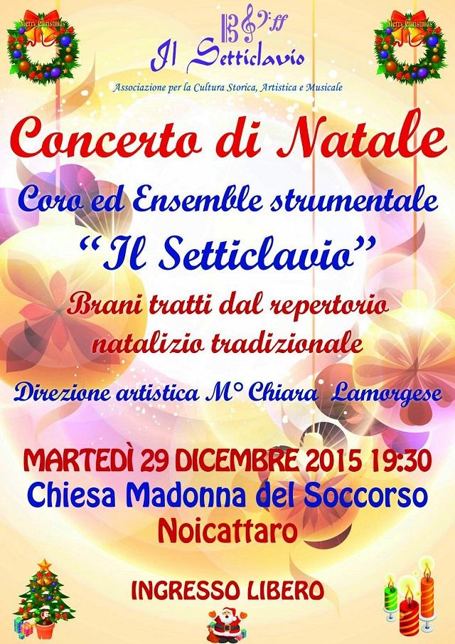 Noicattaro. Concerto Setticlavio Natale intero 2