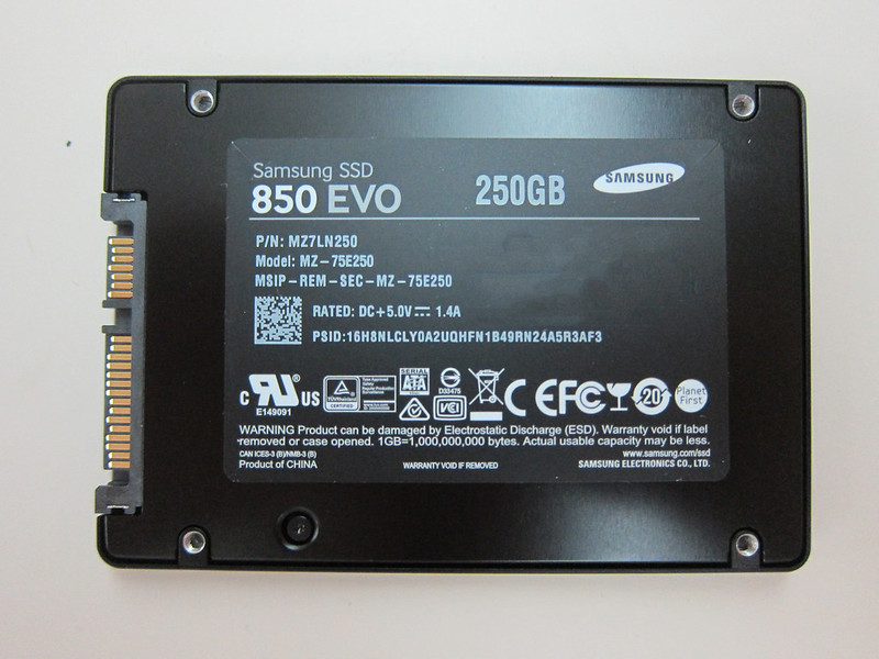 Samsung 850 EVO 250GB - Back
