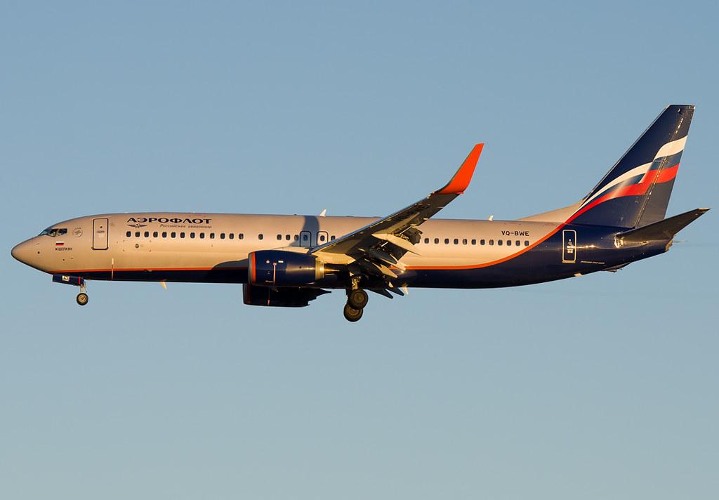 VQ-BWE - B738 - Aeroflot