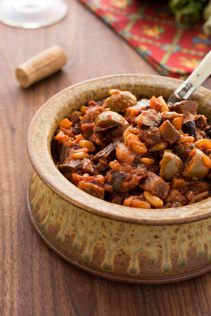 caponata in bowl