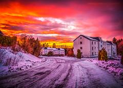 Askim, Norway 168 – Winter Street Sunset
