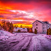 Askim, Norway 168 – Winter Street Sunset by IP Maesstro