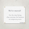 Moving Store Announcement
