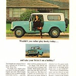 Fri, 2016-04-22 13:45 - 1964 International Harvester Scout Advertisement National Geographic August 1964