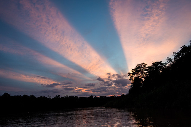 Sunset - Kinabatangan River