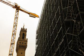 Construction at the Uffizi