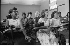 Integrated students at Anacostia High School: 1957