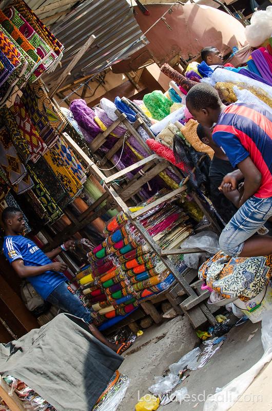 mercado de Lomé sin mirar por el visor