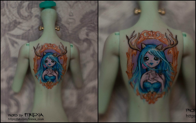 tattoo on monster high body