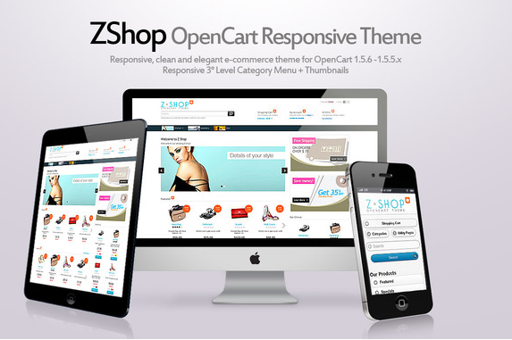 CreativeMarket ZShop v1.5.2 – Responsive theme for OpenCart
