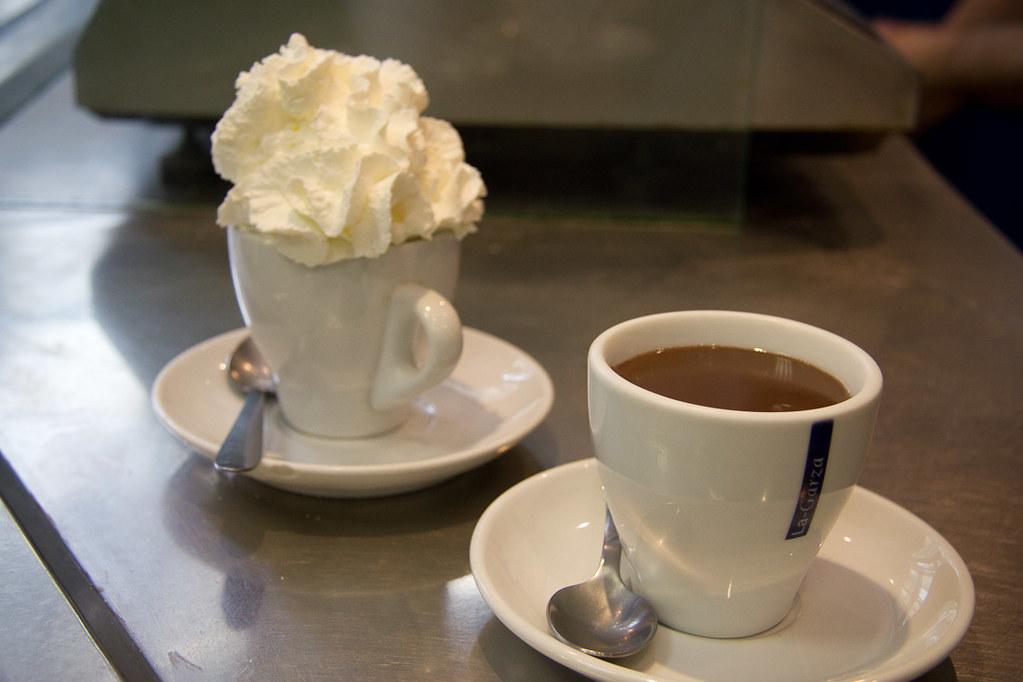 Amazing hot chocolate in Barcelona