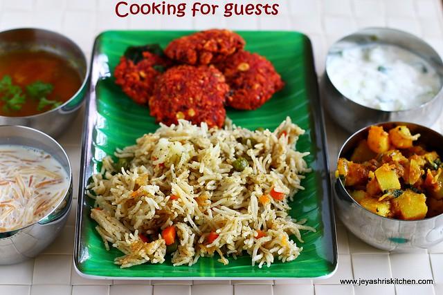 biryani-beetrootvada-potato curry