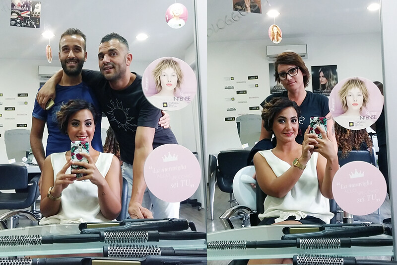 Evento #BLOGGERS4CdB: Piega Gloss, pigmenti puri di colore provati nel salone Compagnia della Bellezza di Giuseppe Rotilio a Reggio Calabria