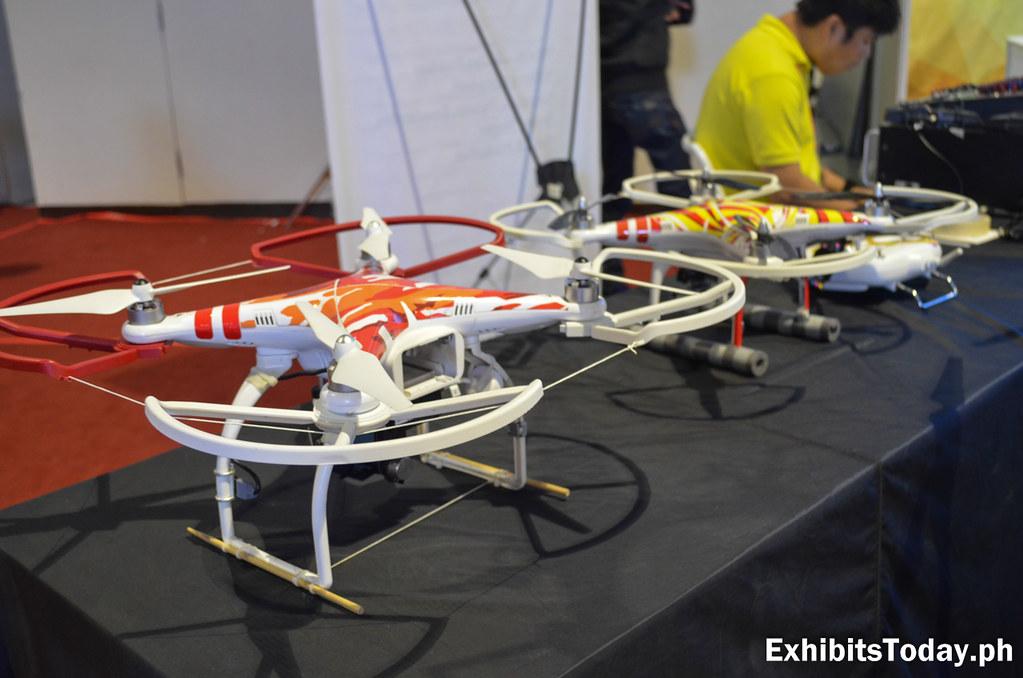 White and orange drones