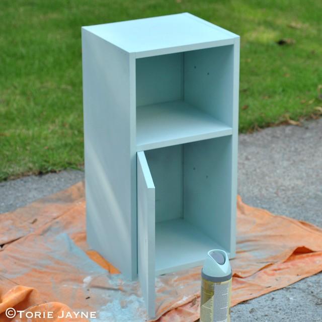 Spraypainting cabinet