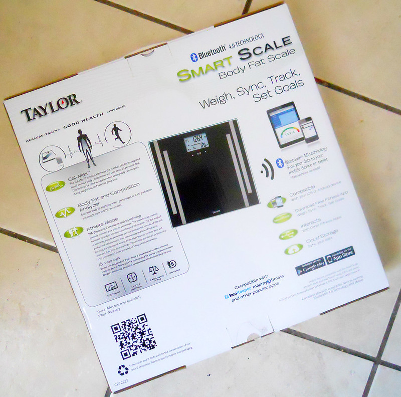 Taylor Bluetooth Body Fat Smart Scale and App 1