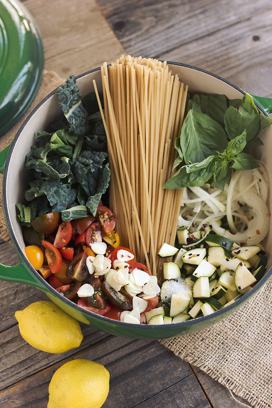 Farmers Market One Pot Pasta (Gluten-free)