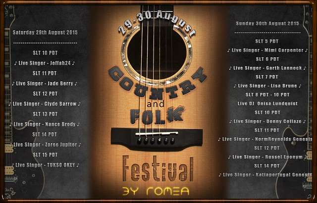 Country Rock and Folk Festival Lineup