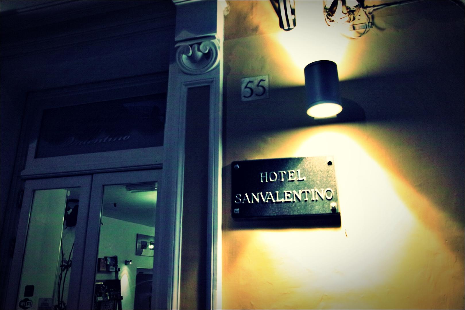 입구-'로마 바티칸 산 발렌티노 호텔'