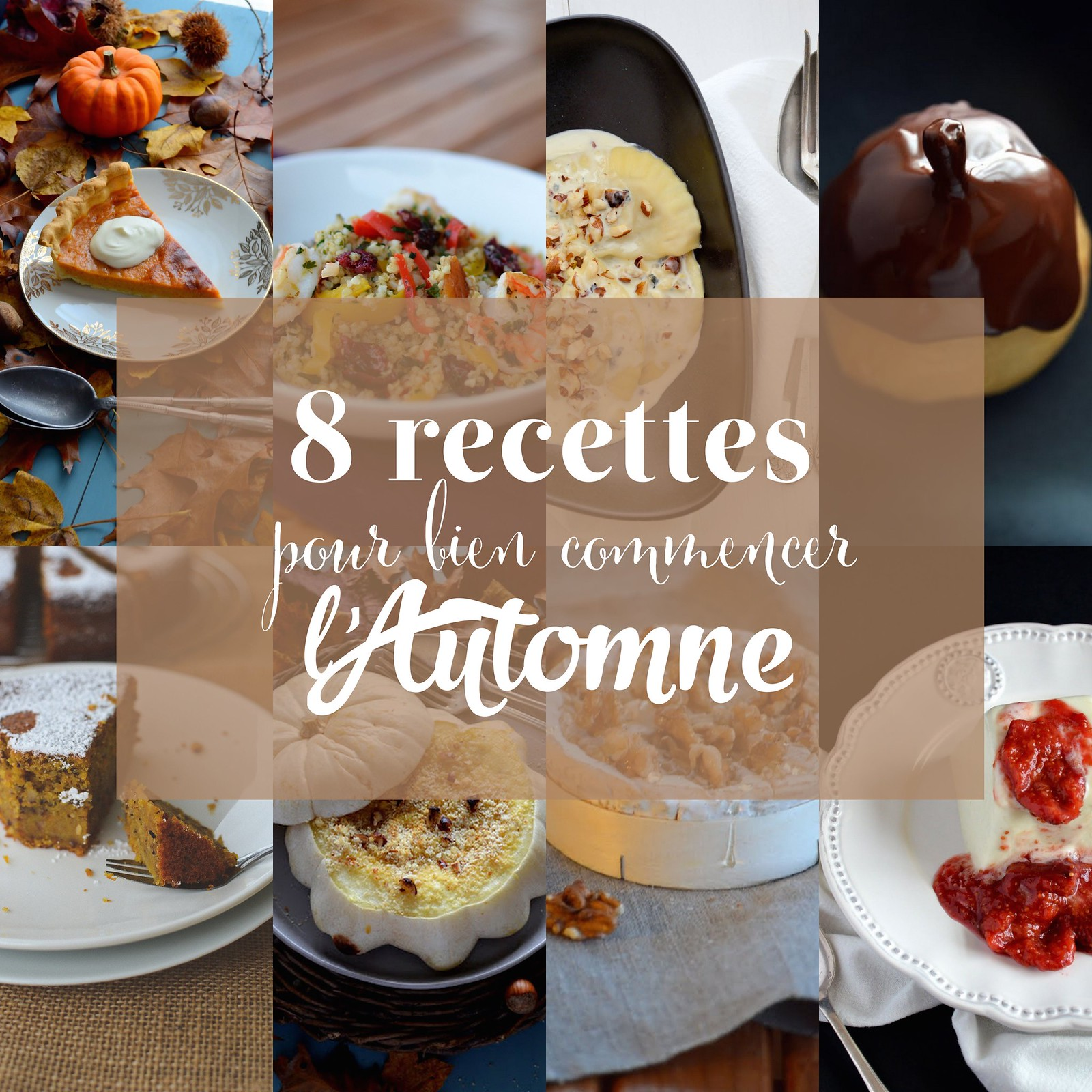 8 recettes pour bien commencer l'Automne / 8 awesome recipes to begin with Fall
