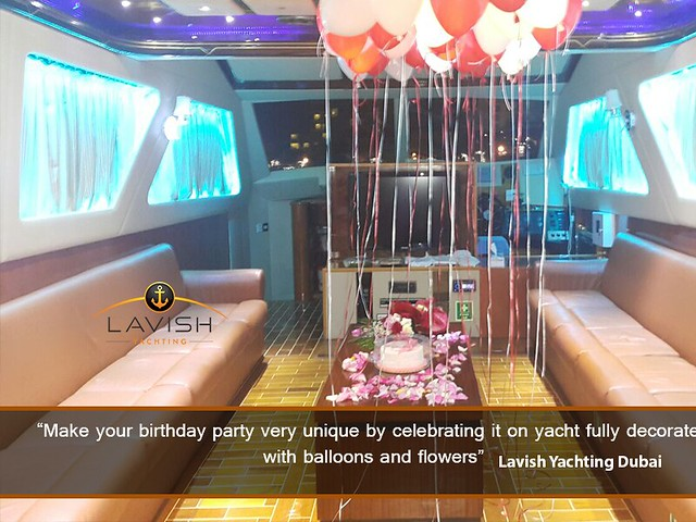 special birthday on yacht